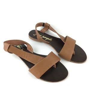 Free People Under Wraps Sandals Taupe